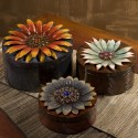 Felicity Dimensional Flower Storage Boxes - Set of 3 - 12987-3