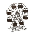 Rattan and Metal Ferris Wheel with Planter Baskets – 67108