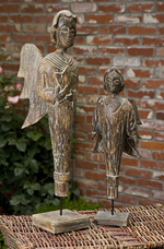 Alora Wood Carved Standing Angels - 83008-83009