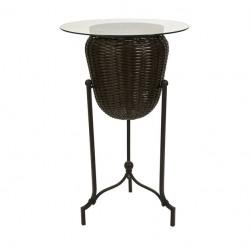 CKI Mandalay Bar-Height Planter Table with Glass Top