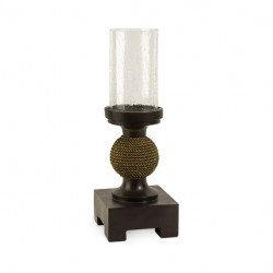 CKI Appolonia Small Candle with Glass Hurricane