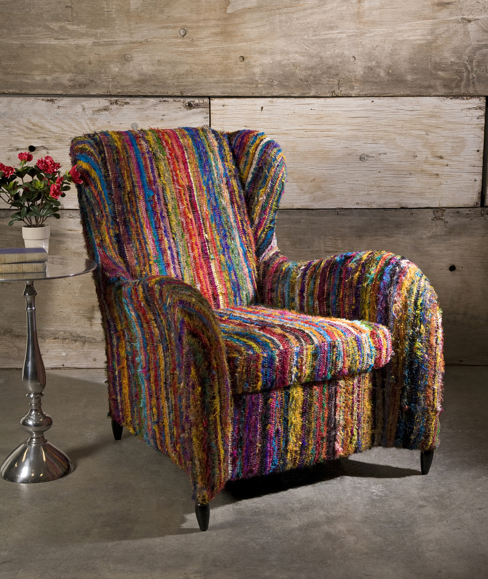 Adalina Recycled Silk Arm Chair