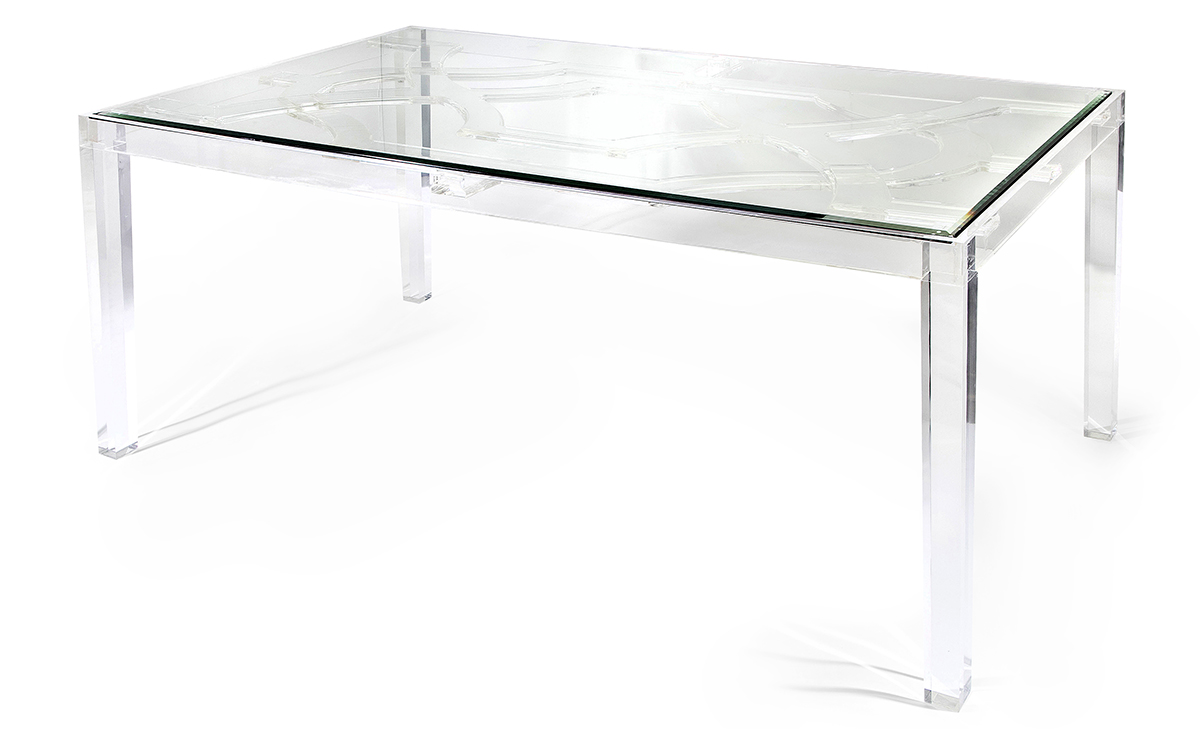 Detail: NK Vesparo Acrylic and Glass Dining Table