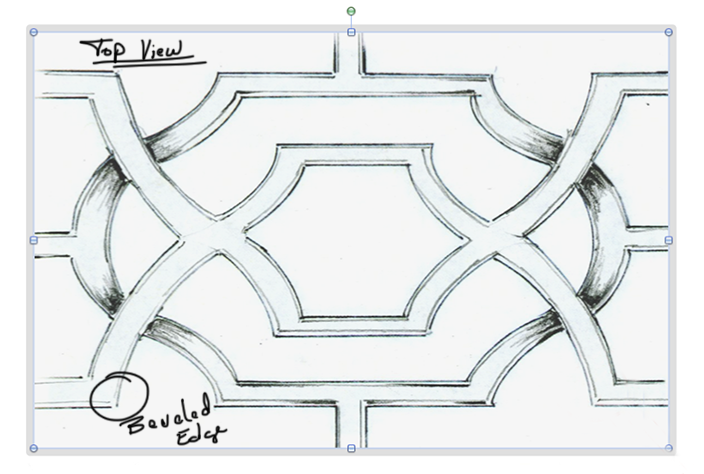 Plans: Detail: NK Vesparo Acrylic and Glass Dining Table