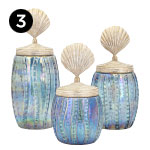 10273-10274-10275 Fern Lidded Decorative Canisters