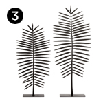 10373-2 Fern Statuaries – Set of 2