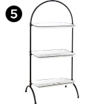 17344 Gorgia Enamel Tiered Tray Stand