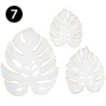 65933-3 Palm Metal Wall Decors – Set of 3