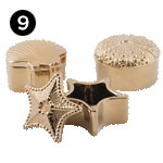 A0369281 Petra Gold Ceramic Shell Boxes - Ast 3