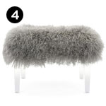 75341 Brietta Tibetan Fur and Acrylic Bench