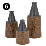 16391, 16392, 16393 Creek Vases
