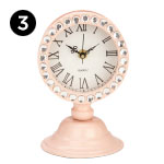 17367 Irisa Pink Desk Clock