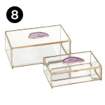 31514-2 Maison Glass and Agate Boxes – Set of 2