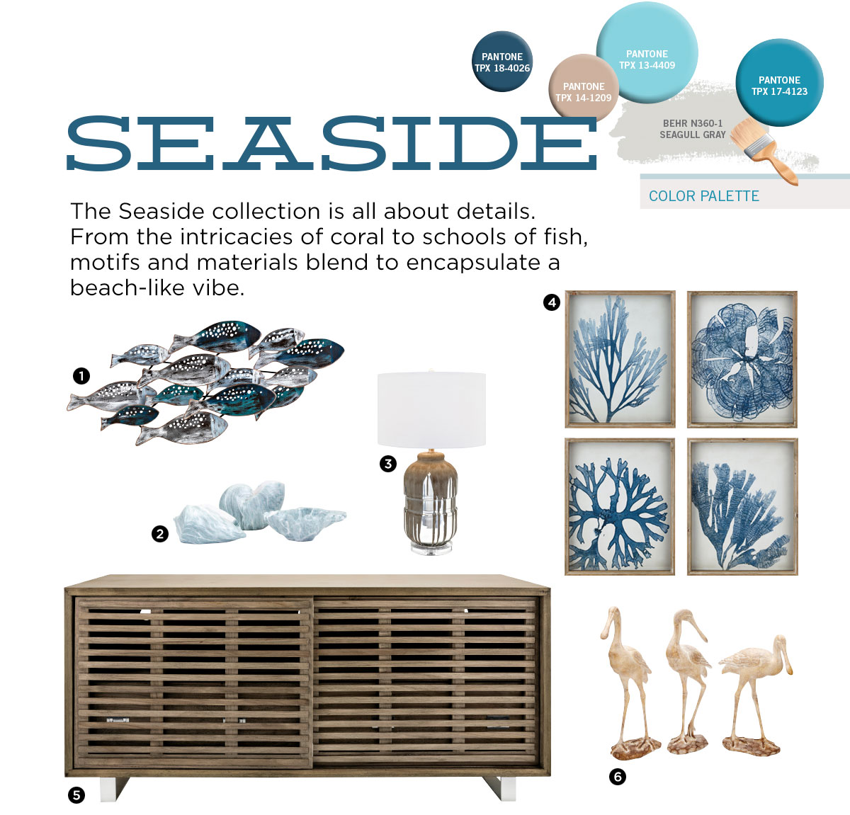 Seaside Trend from IMAX Worldwide Home