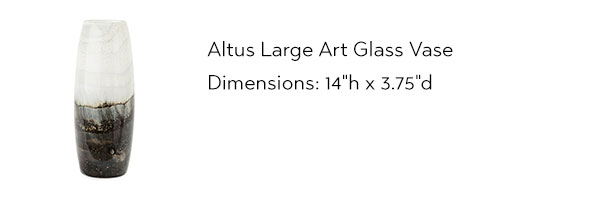 15519 Altus Large Art Glass Vase from IMAX Worldwide Home