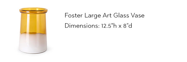 48208 Foster Large Art Glass Vase from IMAX Worldwide Home