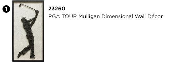 PGA TOUR Mulligan Dimensional Wall Decor