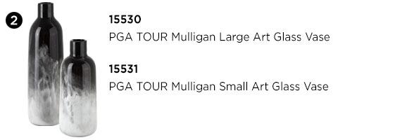 PGA TOUR Mulligan Art Glass Vases
