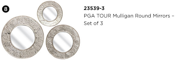 PGA TOUR Mulligan Round Mirrors - Set of 3